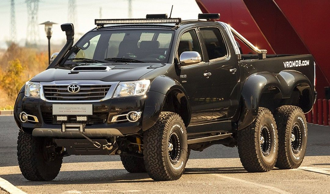 Toyota Hilux 6x6 By Vromos Affordable G63 Amg 6x6 Toyota Hilux Toyota Toyota Trucks