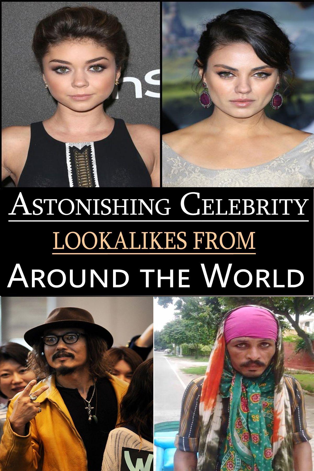 Astonishing Celebrity Lookalikes From Around The World Celebrities Celebrities Funny Crazy People