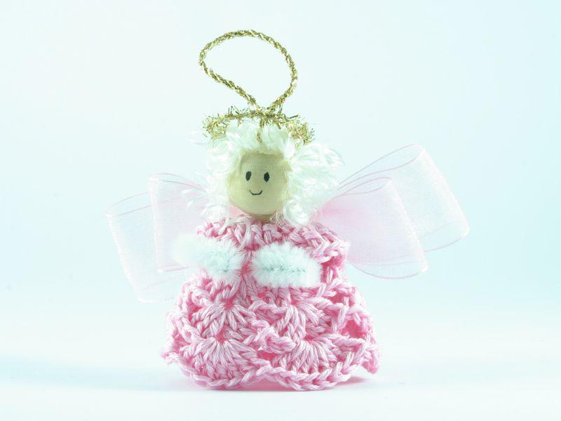 angelo rosa bomboniera  di Un Cesto di Gomitoli su DaWanda.com