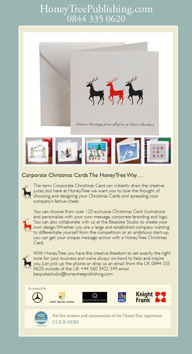 Corporate christmas cards from honeytree we have over 80 designs shop our collection of personalised business christmas cards give your clients another reason to smile this christmas with thoughtful personalised cards reheart Images