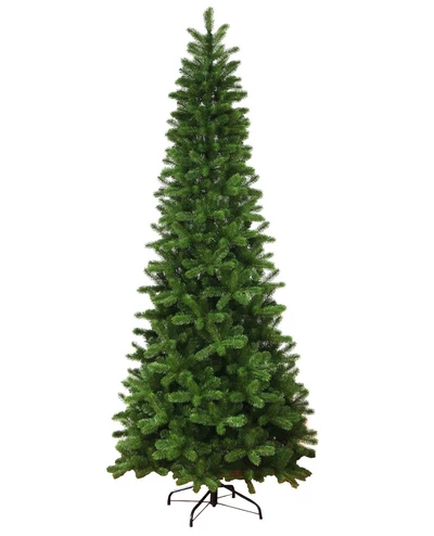 12 King Douglas Fir Slim Quick Shape Artificial Christmas Tree With 1050 Warm White Multi Color Led Lights Slim Artificial Christmas Trees Slim Tree Beautiful Christmas Trees