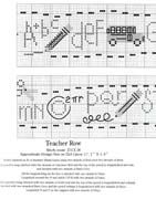 Schema punto croce Teacher Row 02