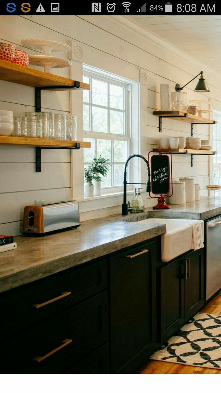 Concrete Counters Kitchen Remodel Home Kitchens Kitchen Design