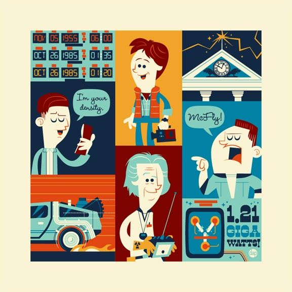 Back to the Future Trilogy by DAVE PERILLO