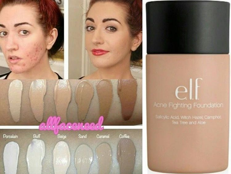 elf acne fighting foundation porcelain