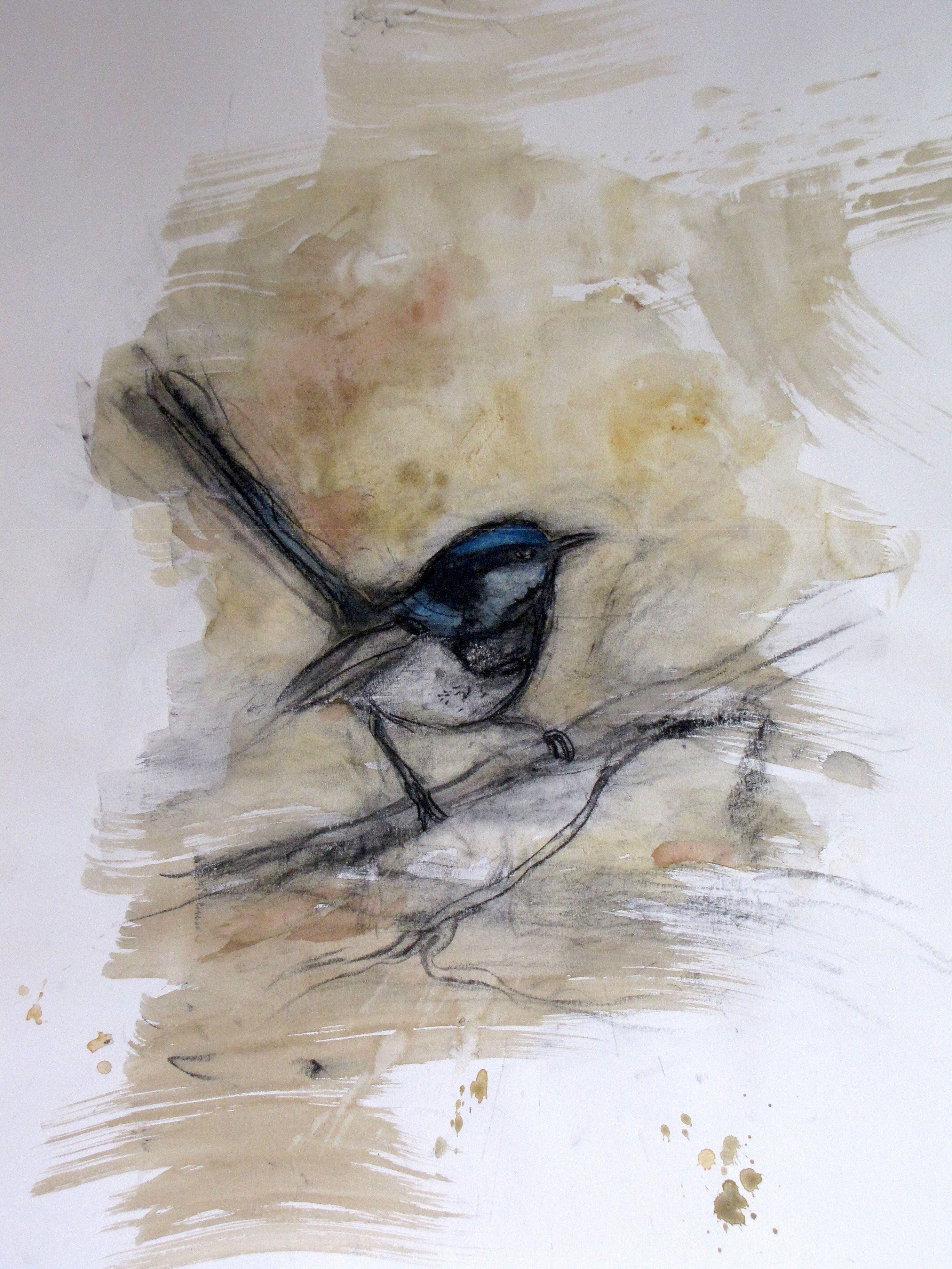 Garden Fairy Bird Art Australian Art Watercolor Bird