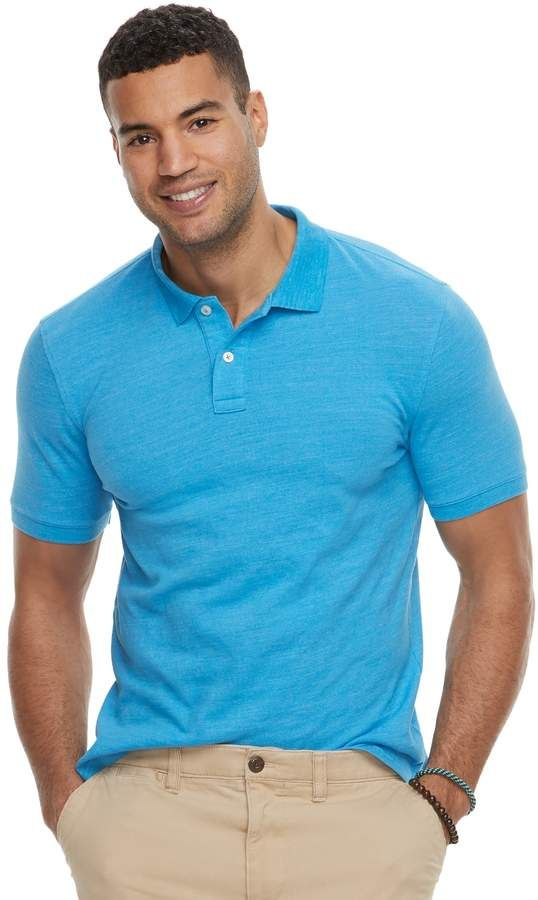 aa3bcf0952 Sonoma Goods For Life Men's SONOMA Goods for Life Flexwear Slim-Fit Stretch  Pique Polo