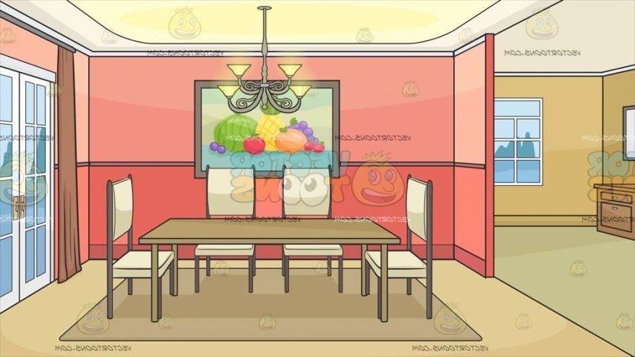 Dining Room Cartoon Background In 2020 Cartoon Background