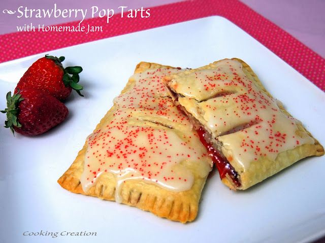 Pop Tarts with Easy Homemade Strawberry Jam & Vanilla Glaze