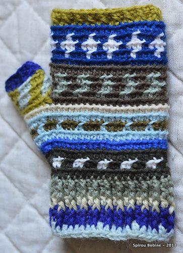 Mitaines Daisy Pattern By Spirou Bobine Crochet Gloves Mittens