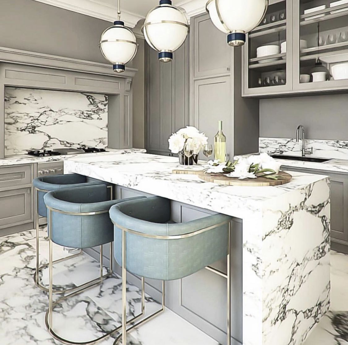 Pin by Dara on Home goals   Minimalist kitchen design, House ...