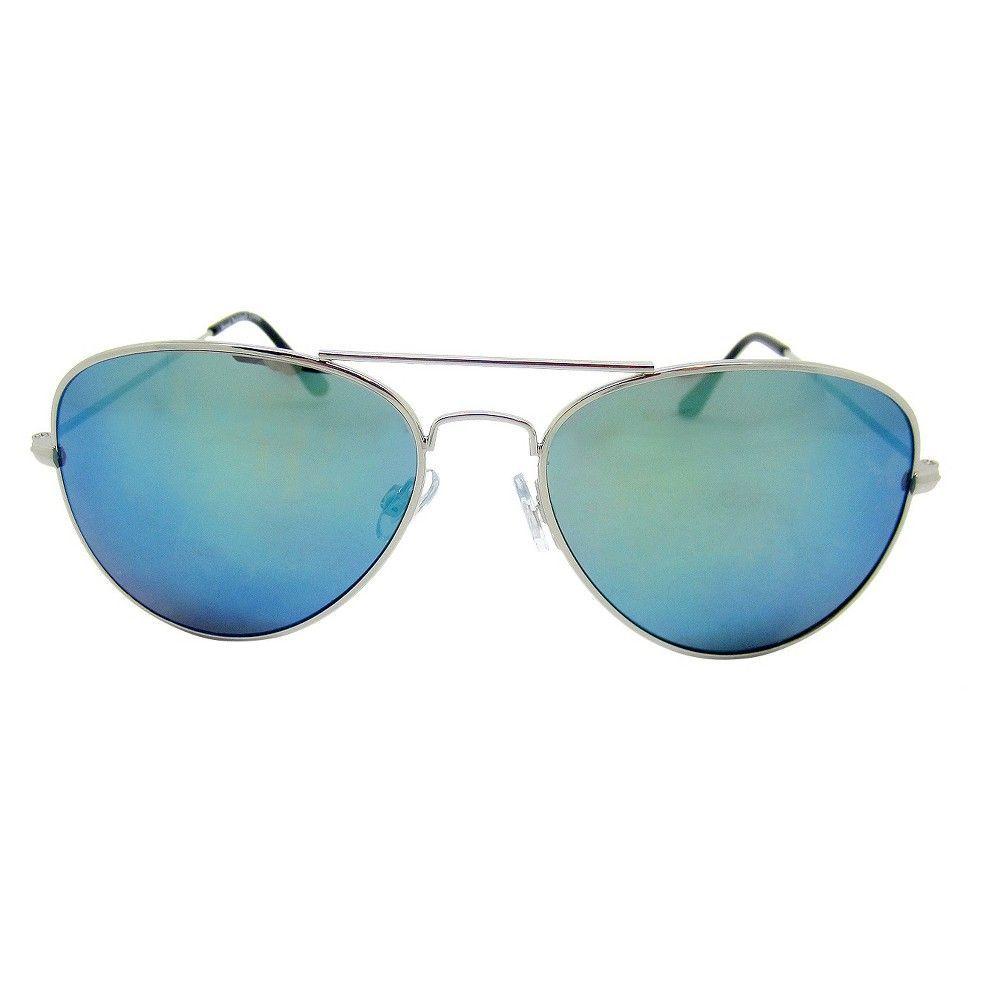 Women's Aviator Sunglasses - Silver, Light Silver