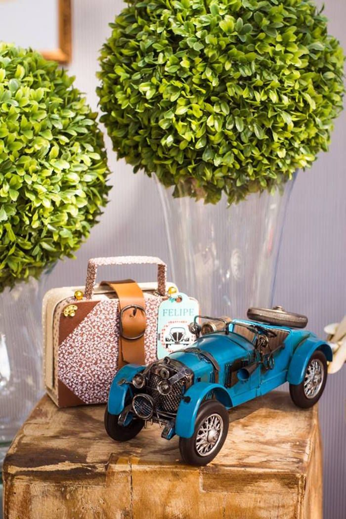 Decor Items from a Vintage Car Party via Karas Party Ideas