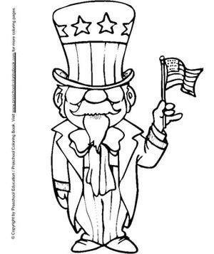 Preschool Coloring Book's 4th of July Coloring Pages