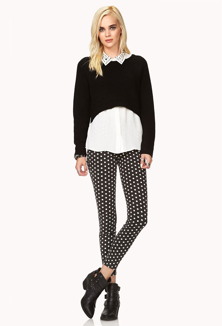Bold High-Low Cropped Sweater | Style Inspiration | Pinterest ...