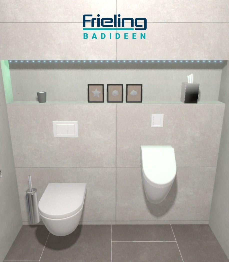 Das Gastebad Mit Dusche Ansicht Wc Urinal Highlights Setzen Mit Nischen Beleuchtung In 2020 Gastebad Dusche Urinale