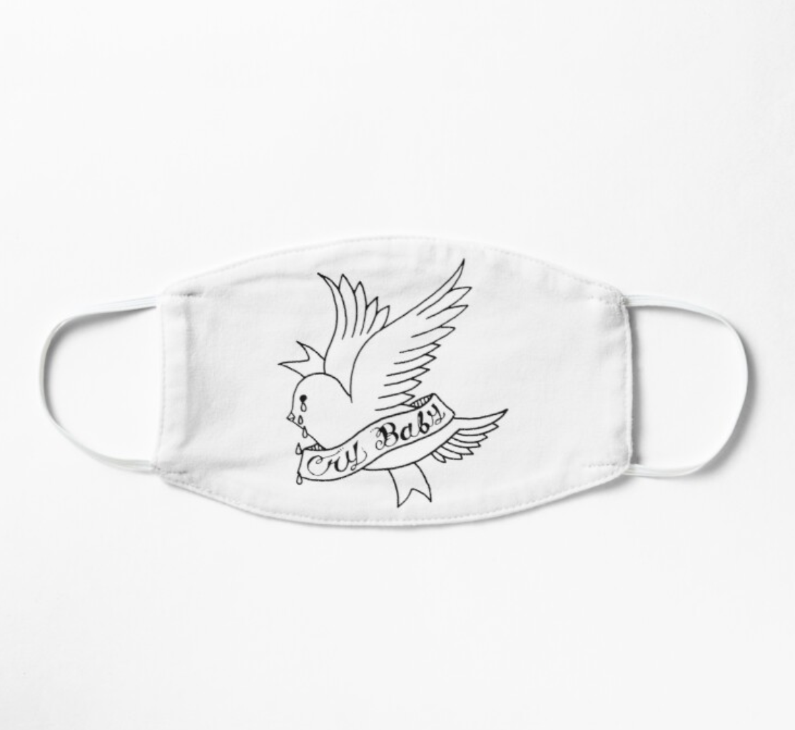 Lil Peep Crybaby Bird Mask By Shoxio In 2021 Peeps Lil Peep Merch Cry Baby