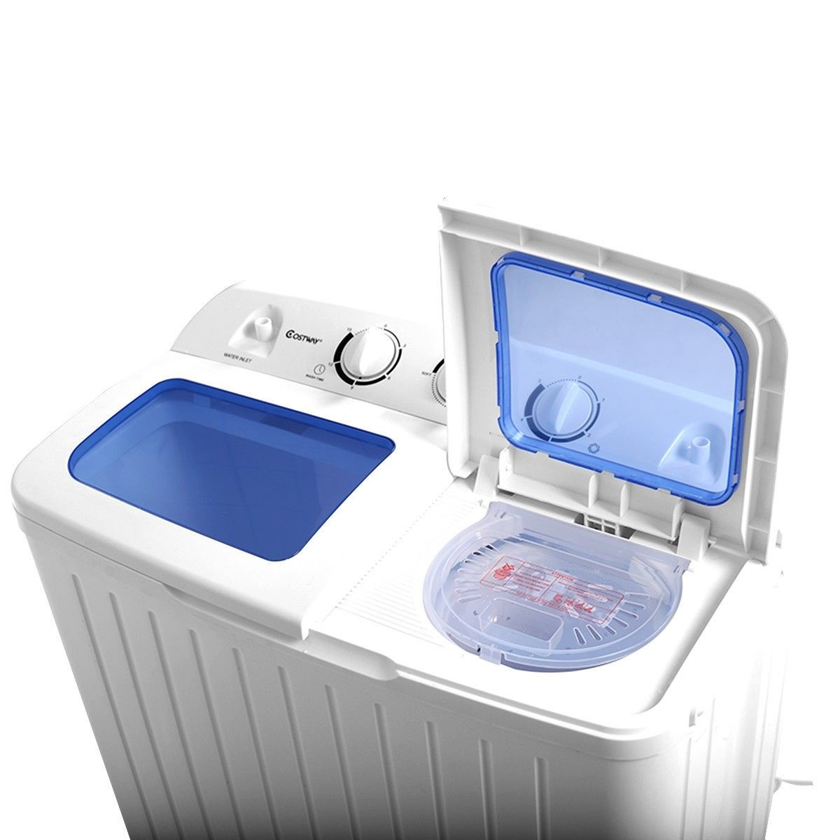 11 Lbs Compact Twin Tub Washing Machine Washer Spinner Small