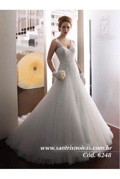 Vestido de Noiva Semi Sereia em Tule e Bordados Plus Size | @wedding ...