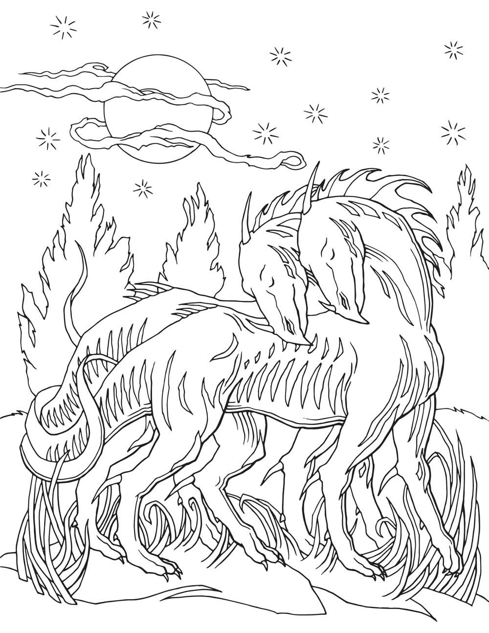 Dragon Coloring Book For Adults Coloring Page Pinterest