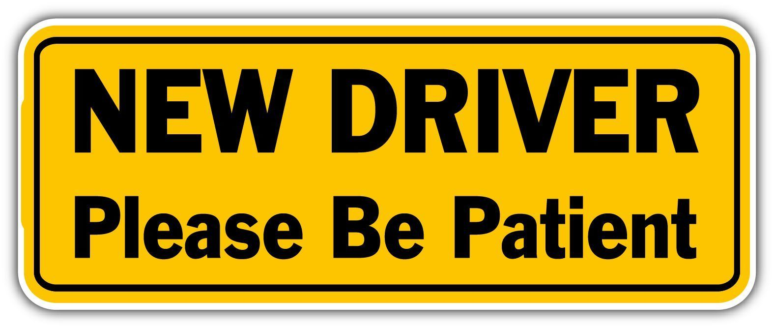 "Caution Student Driver Sticker Decal Please Be Patient Truck Car Vinyl 6/"""