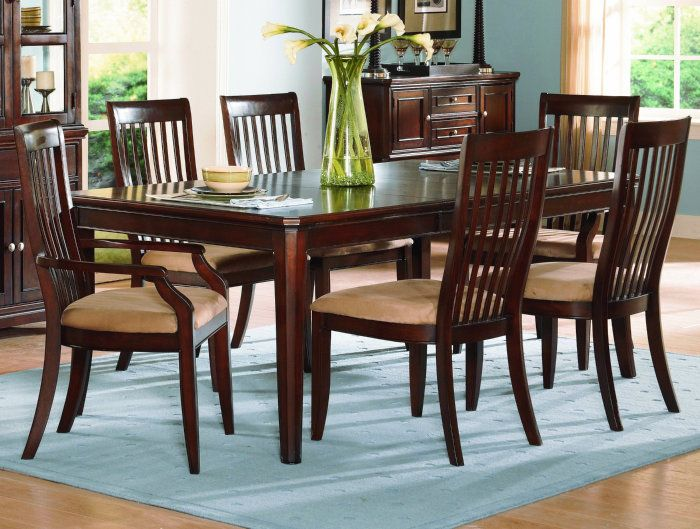 Buy Homelegance Laurel Heights 7 Piece Dining Room Set In Cherry On Sale  Online