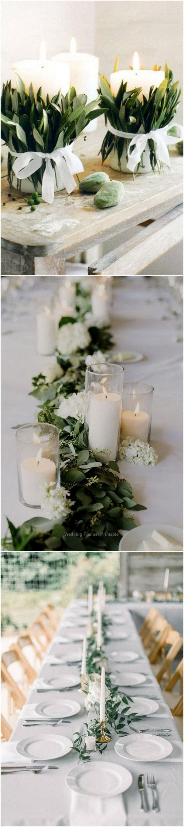 12 Simple White and Green Wedding Centerpieces on A Budget ...