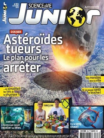 Science et vie junior, n° 313, octobre 2015