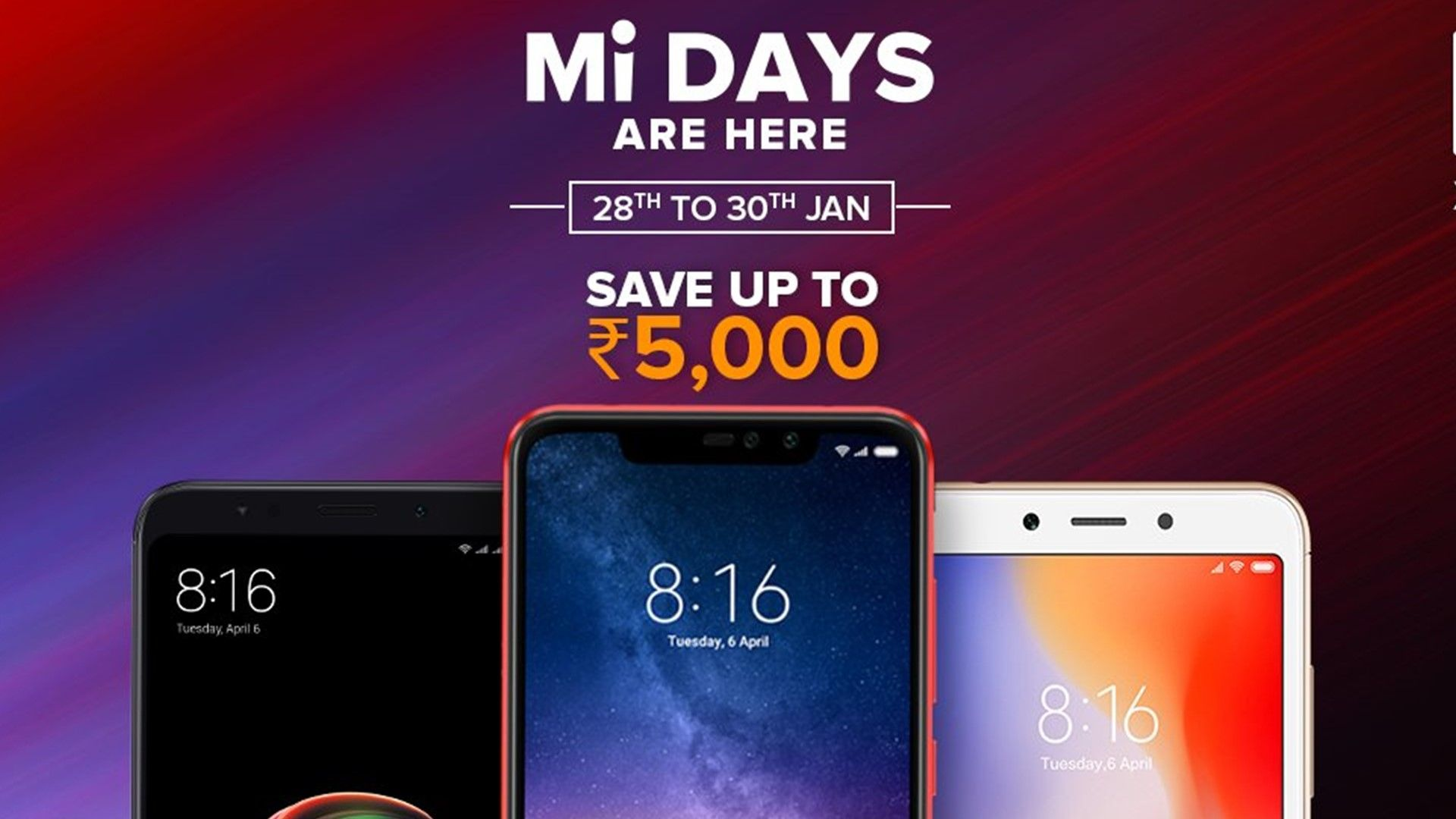 Xiaomi Mi Days Discounts On Redmi Note 6 Pro Poco F1 And More On Flipkart Xiaomi Samsung Galaxy Phone Day