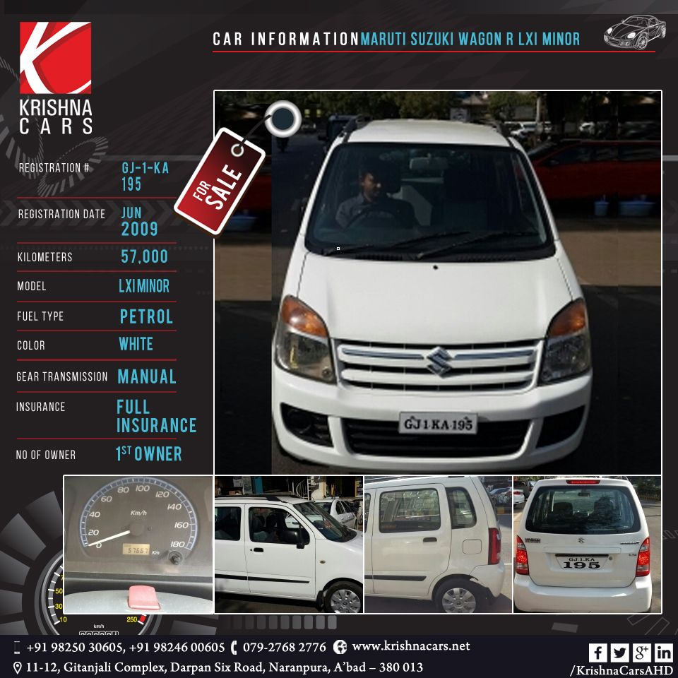 usedCar for sale CAR INFORMATION MARUTI SUZUKI WAGON R