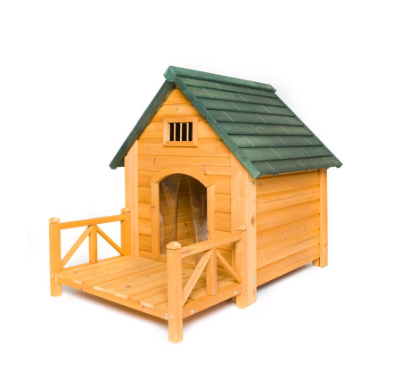 Dog House with Porch and Door Flaps