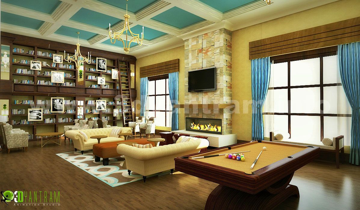 Modern Home 3D Diseo Interior Sala de estar con sala de juegos