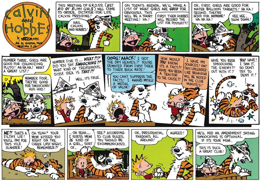 Calvin And Hobbes By Bill Watterson For Mar 2, 2018