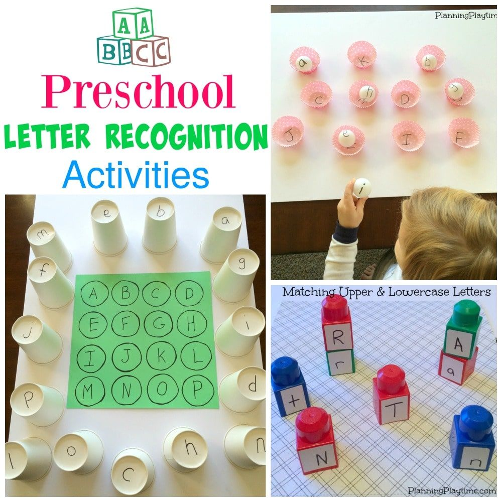 Preschool Letter Recognition Activities  Kindergarten Activities