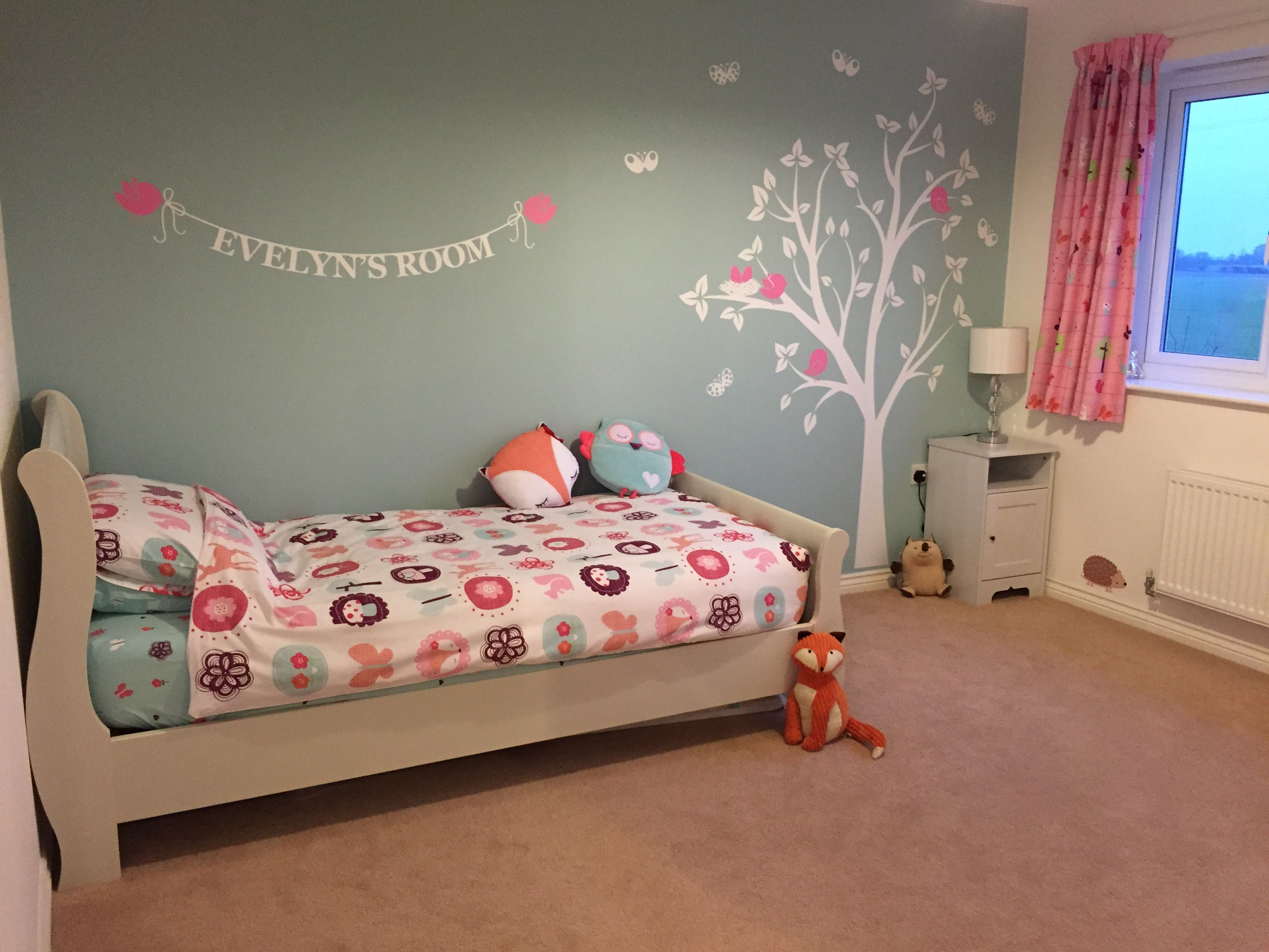 Evelyns Room  Next Woodland Themed Little Girls Bedroom