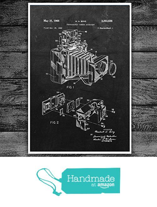 Photographic camera accessory patent art print blueprint art photographic camera accessory patent art print blueprint art patent print poster photography gift malvernweather Gallery
