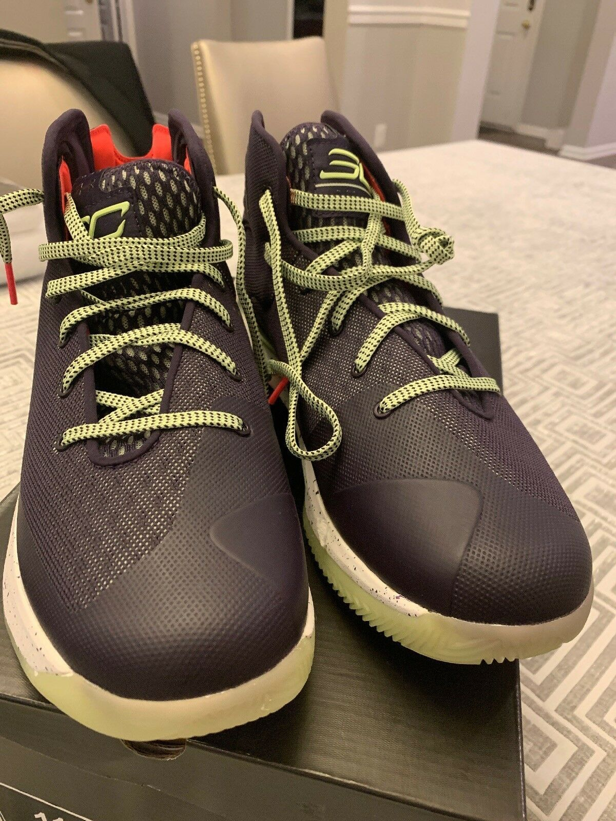 1f41ac3ad50 Under Armour Stephen Curry 3 SC Sneakers Shoes Size 11 Mens Purple Green  Sneaker - Curry