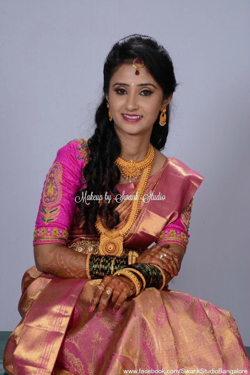Traditional Southern Indian bride, Asha wears bridal silk saree ...