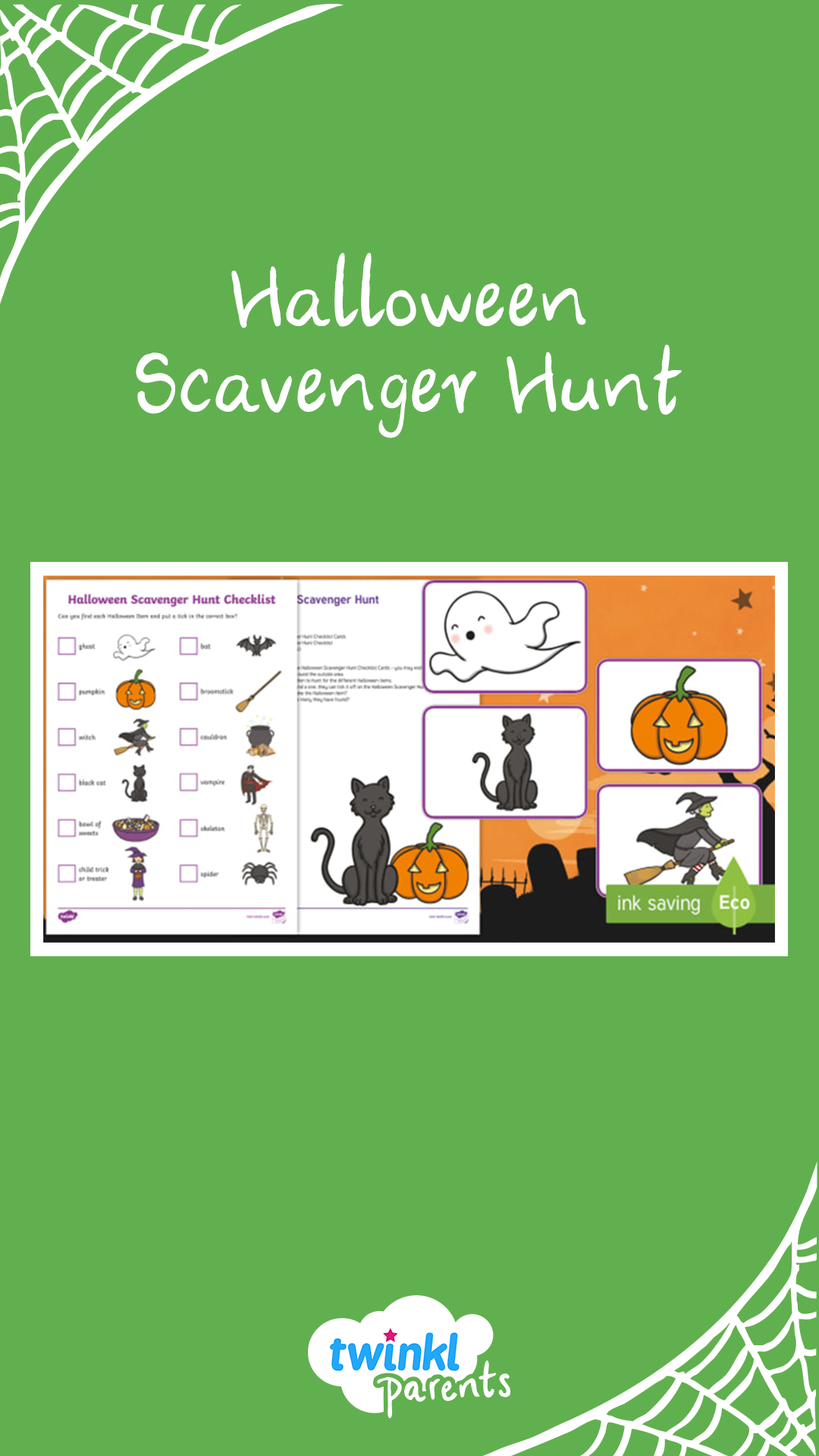 This Halloween scavenger hunt is a great addition to a