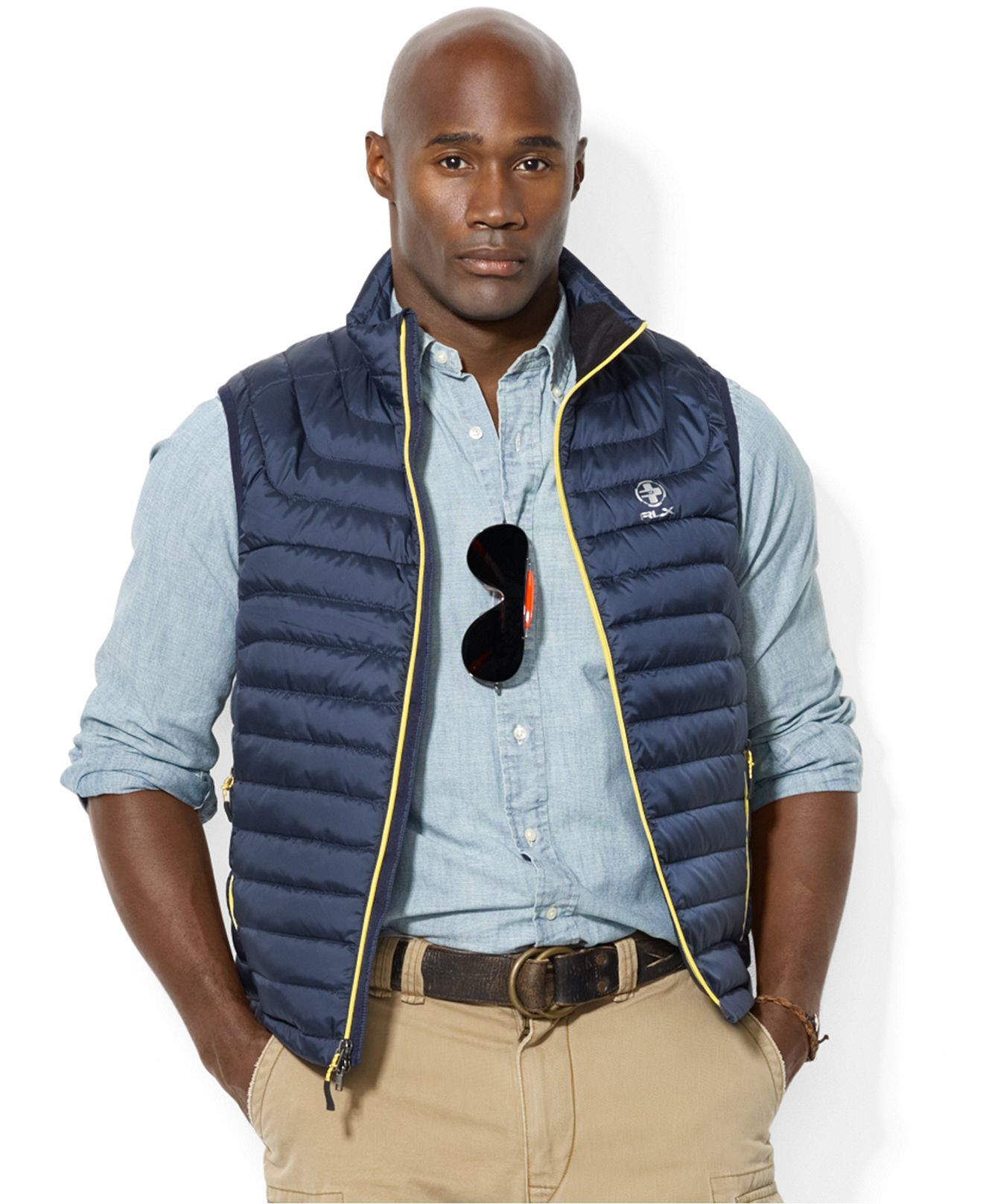 Polo Ralph Lauren Big and Tall RLX Water-Resistant Down Vest - Coats \u0026  Jackets