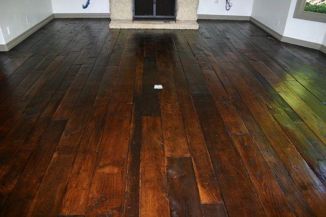 Refinished Pine Wide Plank Floors Vinal St Interior