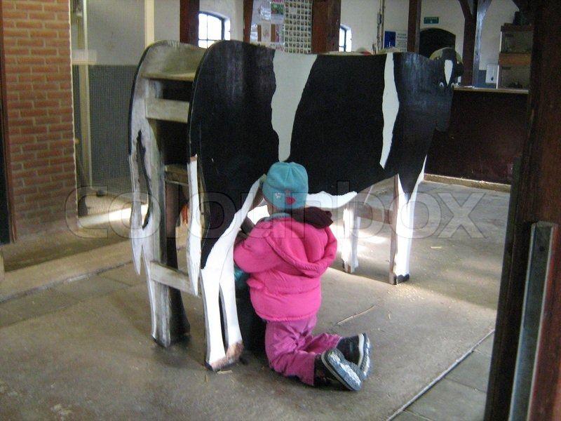 Spiel kuh bauen melken selber Kuh