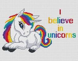 Image Result For Free Printable Unicorn Cross Stitch