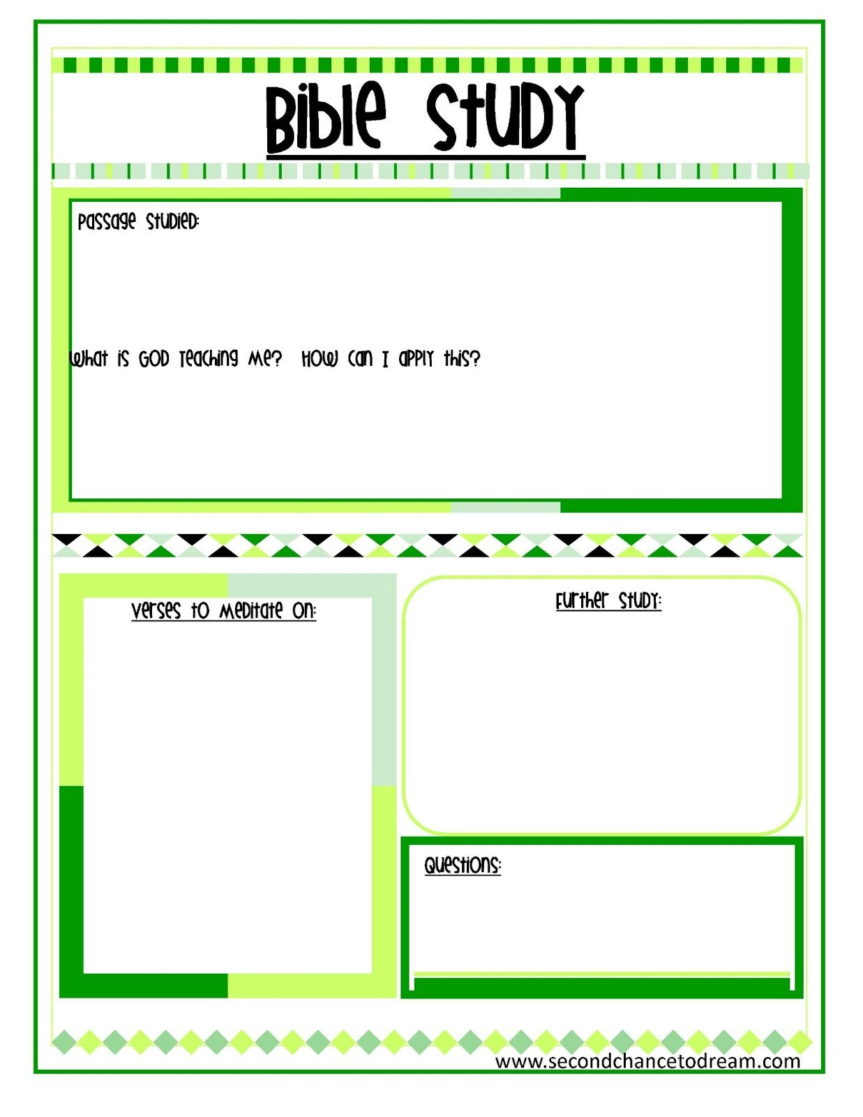 Bible Study And Prayer Request Printables