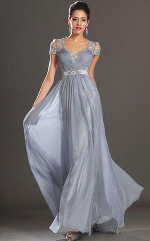 etui chiffon luxus bodenlanges ballkleid/ abendkleid mit bordüre  spitzen abendkleider