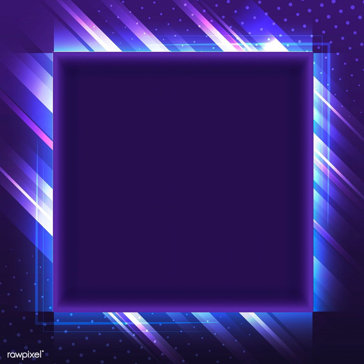 Blank Violet Square Neon Signboard Vector Free Image By