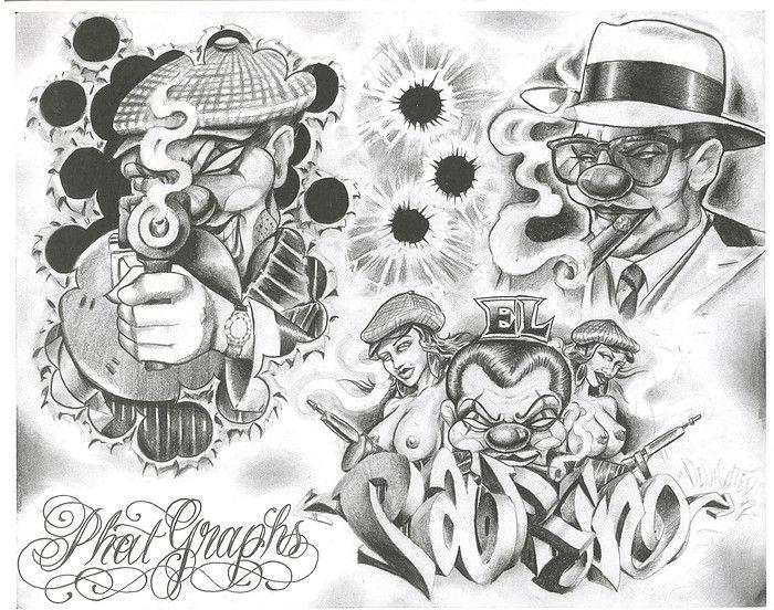 Chicano Tattoo Designs Tattoovoorbeeld Chicano Tattoos Boog