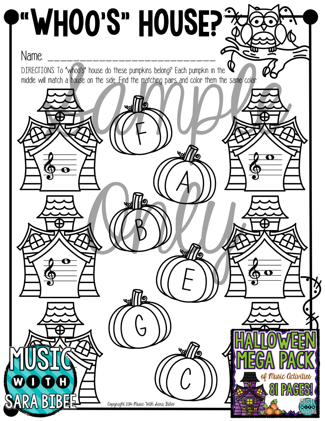 81 Pages Of Halloween Themed Music Worksheets