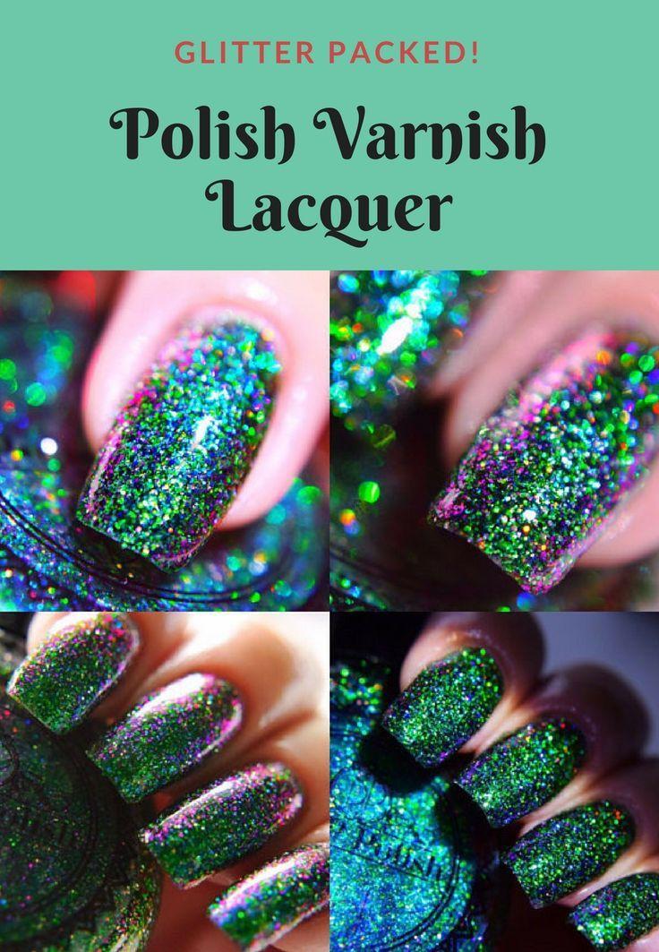 I like glitter packed varnish! #nails #nailpolish #naildesign ...
