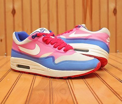 82f4bd1cca Nike Air Max 1 Hyperfuse PRM Size 7 - Sail Pink Force Hyper Blue - 579758  100